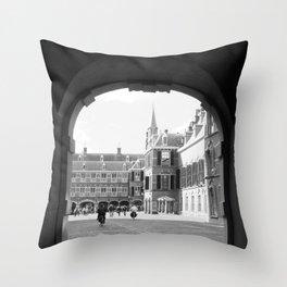 Binnenhof Throw Pillow