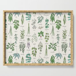 Herbs Collection Pattern Serving Tray