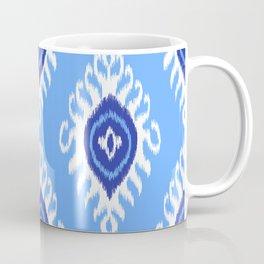 IKAT pattern 02, blue Coffee Mug