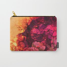 LOVELY FLOWERS ARE KISSING A YELLOW FIELD IV-1 Carry-All Pouch