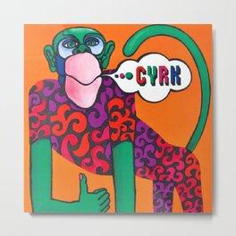 Rare 1973 Polish Cyrk Green Monkey Advertising Trade Poster Metal Print
