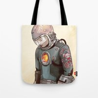 megaman Tote Bags featuring Megaman by Sheharzad