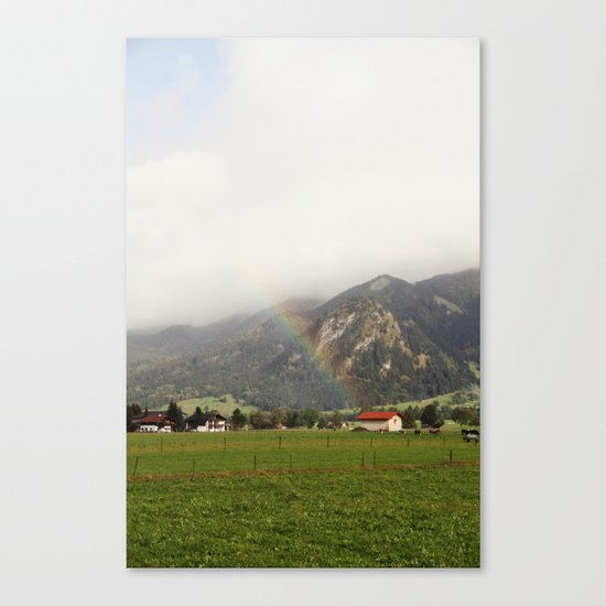 Rainbow in the Valley Canvas Print