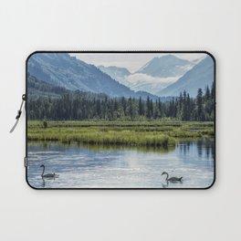 Swans on Tern Lake Laptop Sleeve