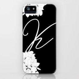"Letter ""K"" Monogram iPhone Case"