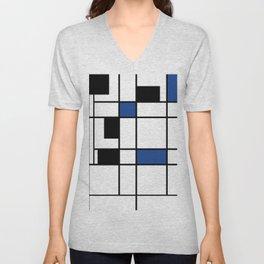 Indigo , abstract , geometric Unisex V-Neck