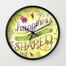 Shared Happiness Wall Clock