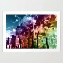 Q-City Three Art Print