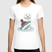 hockey T-shirts featuring Hockey Shark by Nick Volkert