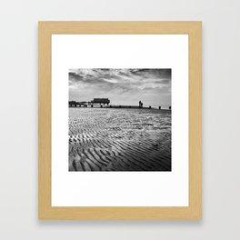Couple on Cleethorpes Beach Framed Art Print