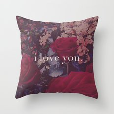 i love you. Throw Pillow