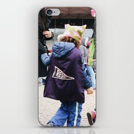 Children at the Women's March iPhone Skin