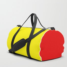 TEAM COLORS 10...RED AND YELLOW Duffle Bag