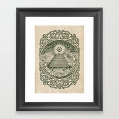 In Block We Trust (Green) Framed Art Print