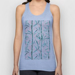 Bamboo on on Blush Background .  #decor #art # society6 Unisex Tank Top