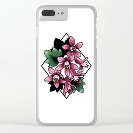 Red Flowering Currant Clear iPhone Case