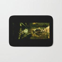 Green Frogs Bath Mat