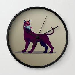 mayan dog Wall Clock