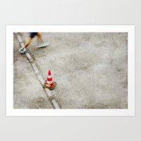 running Art Prints featuring running by hannes cmarits (hannes61)