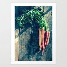 Carrot Bunch Art Print