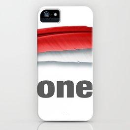 Merah putih iPhone Case