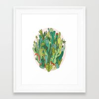 cacti Framed Art Prints featuring Cacti by Gaby D'Alessandro