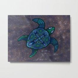 Cosmic Turtle Metal Print