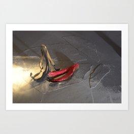 Banana Peel Art Print