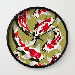 Koi Carp Zen Wall Clock