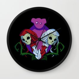 Snow White and Red Rose Wall Clock
