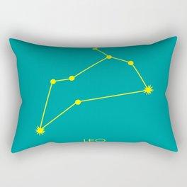 LEO (YELLOW-TEAL STAR SIGN) Rectangular Pillow