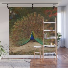 Peacock's Garden by Archibald Thorburn Wall Mural
