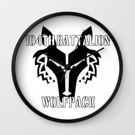 104th Battalion Wolfpack Wall Clock