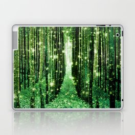 Magical Forest Green Elegance Laptop & iPad Skin