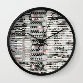 Vulnerability Commerce (P/D3 Glitch Collage Studies) Wall Clock