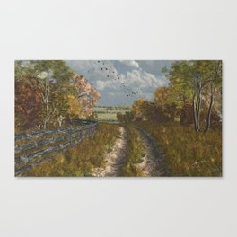 Country Lane in Fall Canvas Print