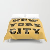 nyc Duvet Covers featuring NYC  by LovebyLucci