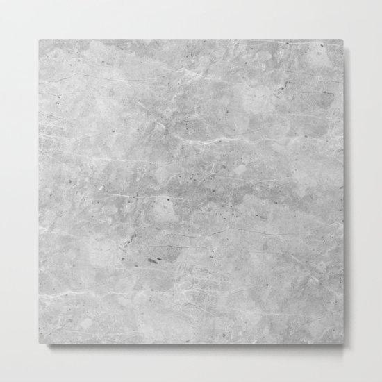 Gray Concrete Metal Print