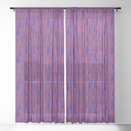 color points Sheer Curtain