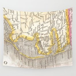 Vintage Map of The Outer Banks (1818) Wall Tapestry