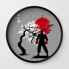 Cherry Tree fighter Wall Clock