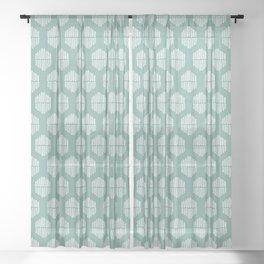 Hekse | Teal Sheer Curtain
