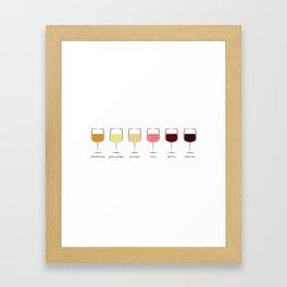 Wine Spectrum Framed Art Print