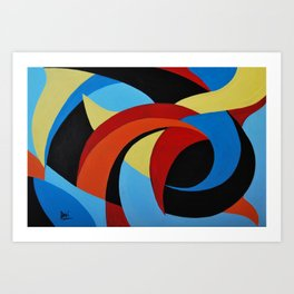 Abstract n.1 - Dancing. Everything Dissolve Art Print