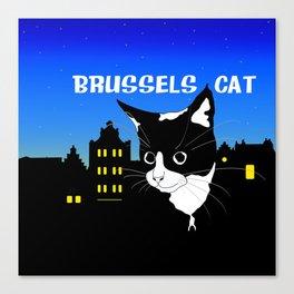Brussels Cat, Chat de Bruxelles, Belgium Cat. Canvas Print