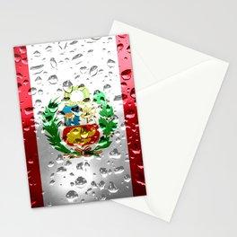 Flag of Peru - Raindrops Stationery Cards