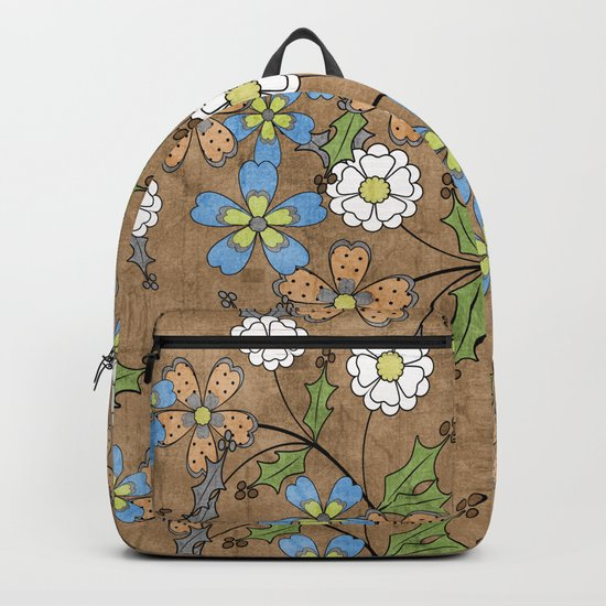 Vintage floral pattern. Backpack