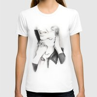 david bowie T-shirts featuring DECONSTRUCTION OF DAVID BOWIE  by Dianah B