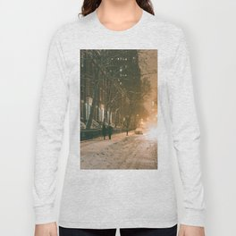 Winter - New York City - Snows Falls - Washington Square Long Sleeve T-shirt