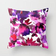 Sara Floral Pink Throw Pillow